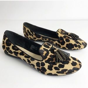 INC | Leopard Print Fur Loafers 8.5